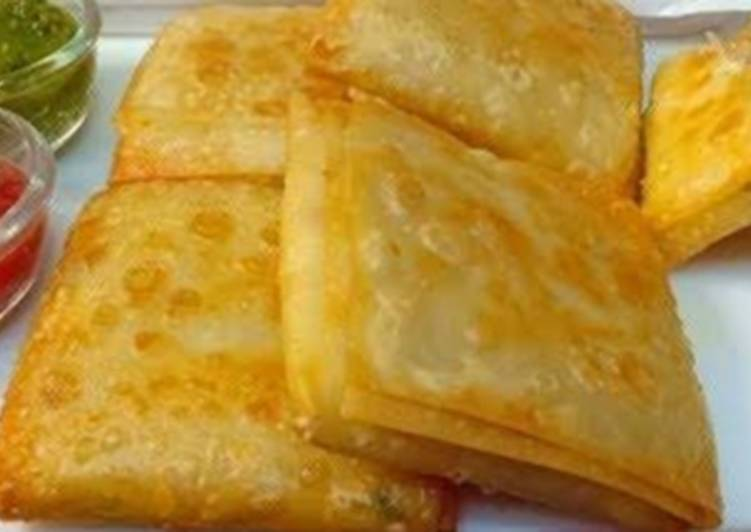 Recipe of Ultimate Chicken cheese crepes 🤩🤩