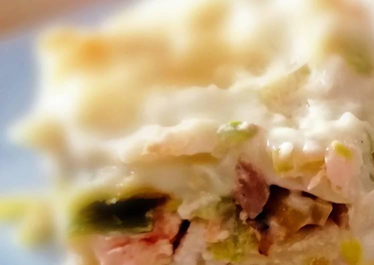 Recette Appétissante Lasagnes saumon poireaux #cookexpertmagimix
