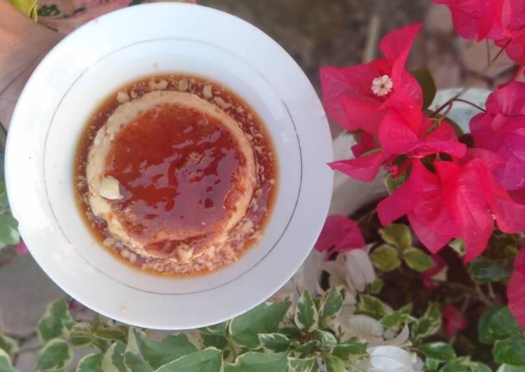 Caramel custard puding