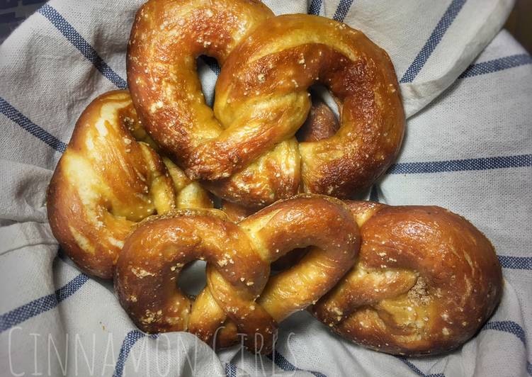 Homemade Soft Pretzel (Mirip auntie Anne lho)
