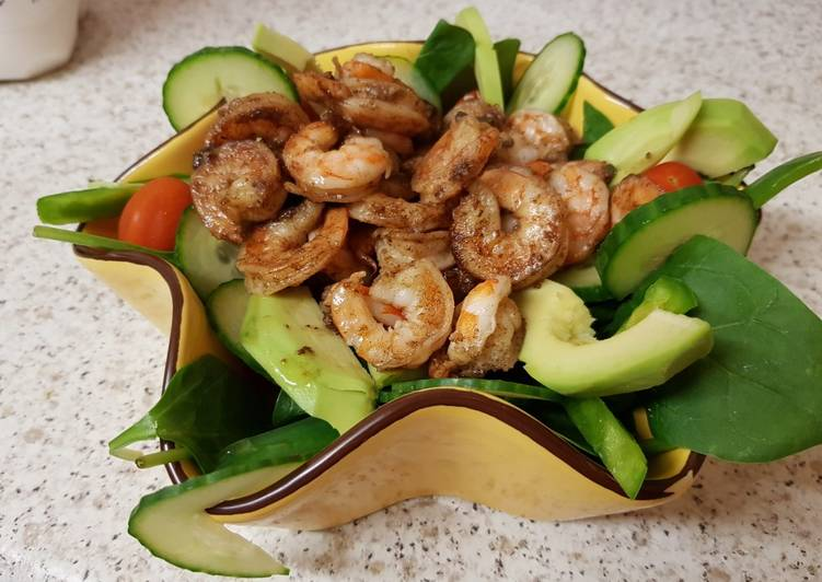 My Garlic & Chilli Buttered King Prawns ?