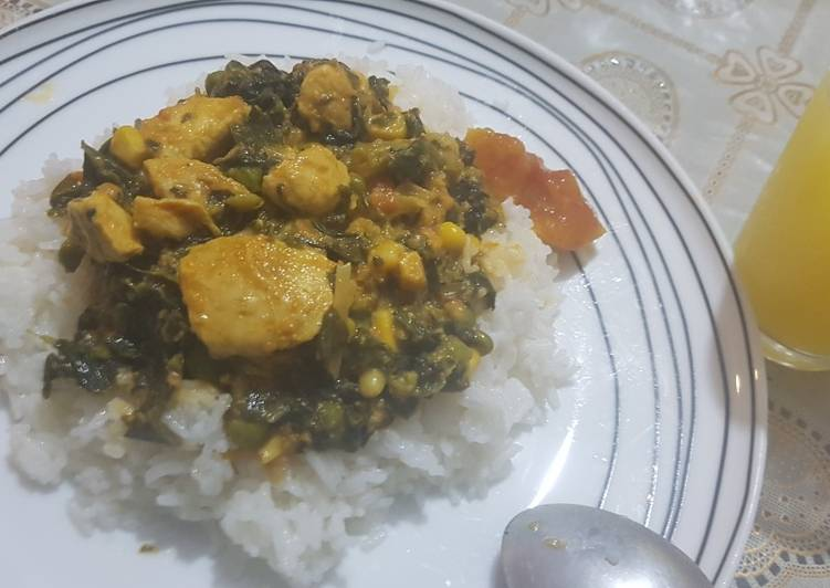 Coconut spinach