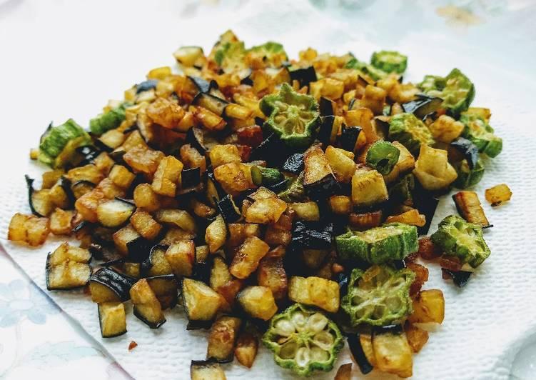 Recipe of Award-winning Okra, Aubergine
