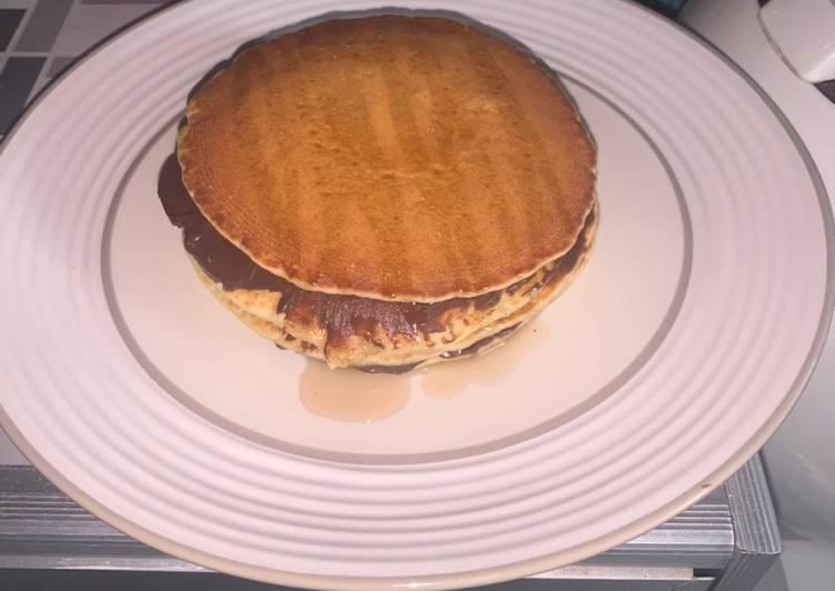 Resep Pancake selai coklat madu Anti Gagal