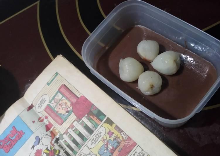 resep cara buat Puding fla coklat