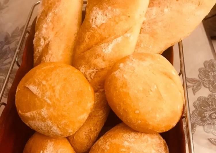 Prépare des pains fait maison