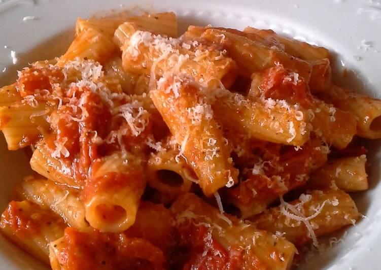 Ricetta Pastasciutta all'amatriciana e la gricia pastasciutte classiche di amatrice
