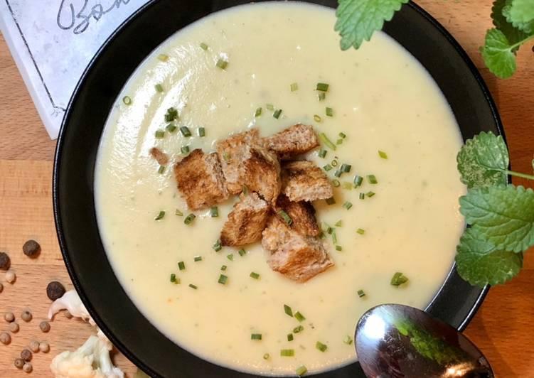 Blumenkohl-Kartoffel-Creme-Suppe