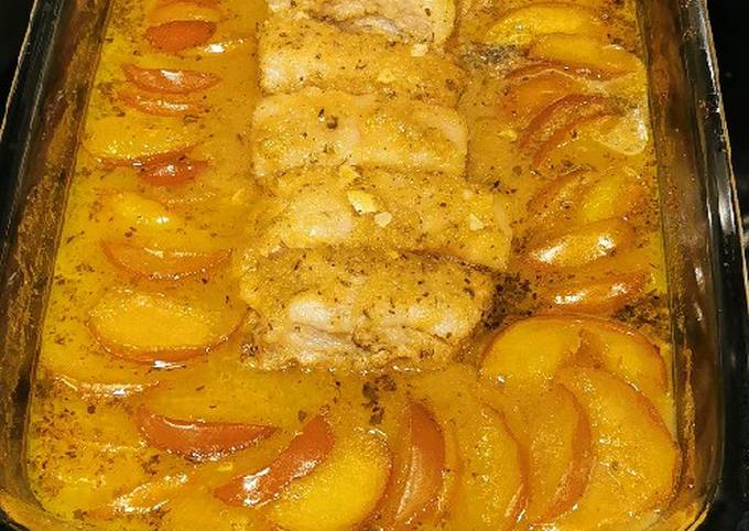 Oven Roasted Pork Belly and Apples