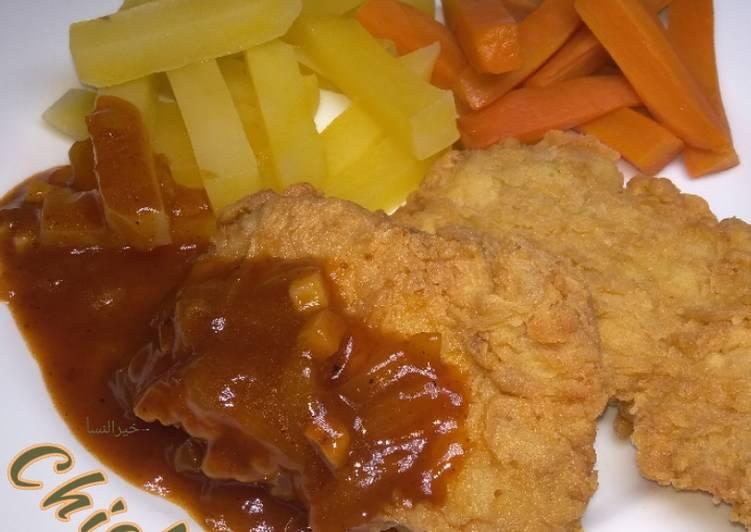 25. Chicken steak / Steak ayam mudah enak 😋😁