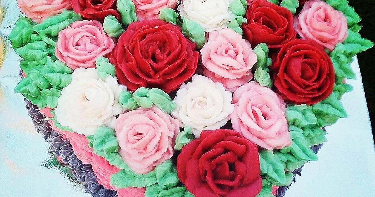 Resep Kue Ultah Love Mawar 2 Oleh Nabila Amira Cookpad