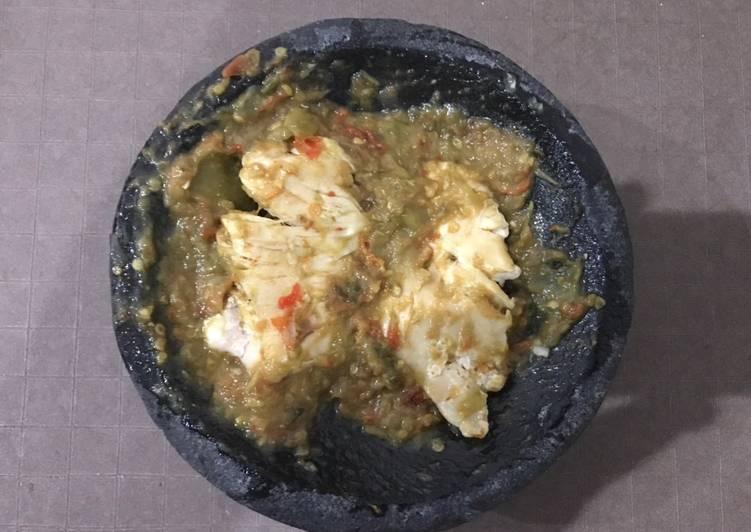 Ayam Gepuk Ijo (tdk di goreng)