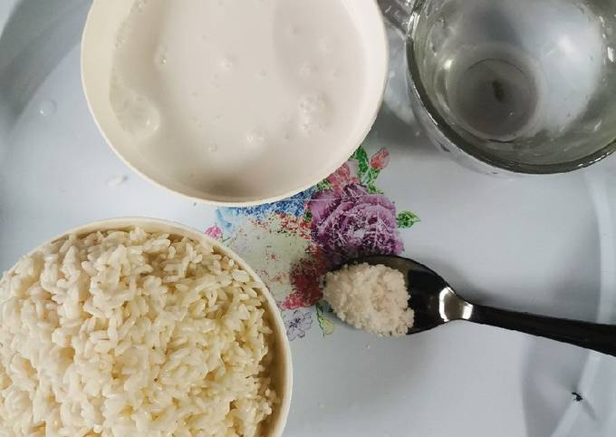 Bubur nasi lemak manis