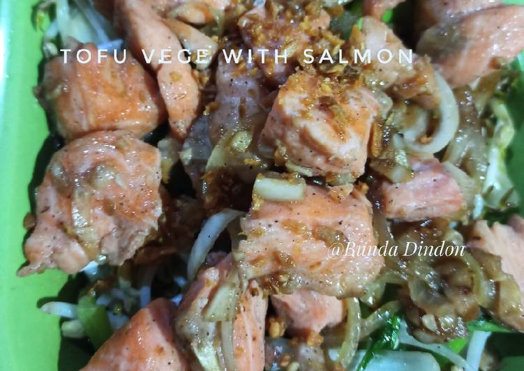 Tofu Vege with Salmon
