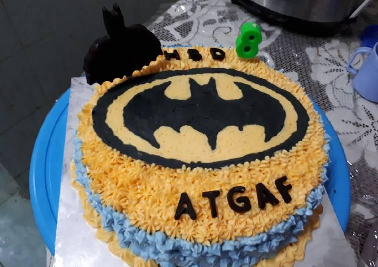 Bagaimana Caranya Mempersiapkan Lezat Kue Ultah Batman Sederhana