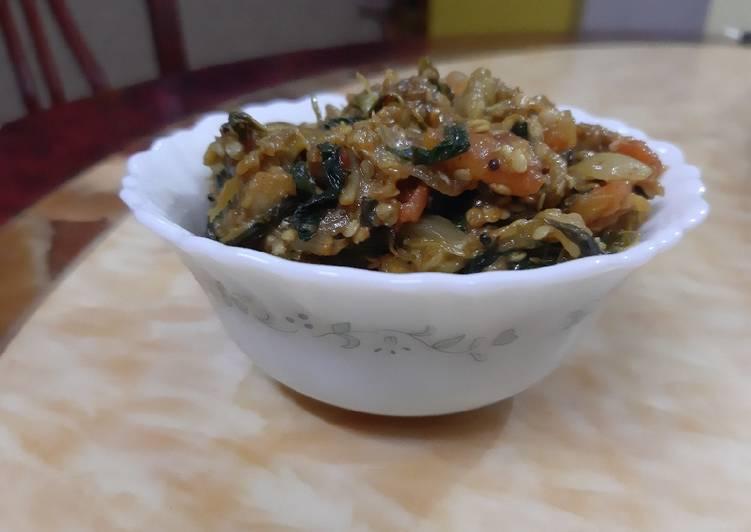 Absolutely Ultimate Dinner Easy Special Roasted Brinjal veg(Vangyacha Bharit)