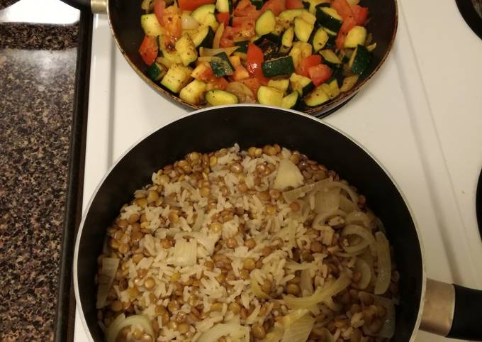 Tender Lentils and Rice
