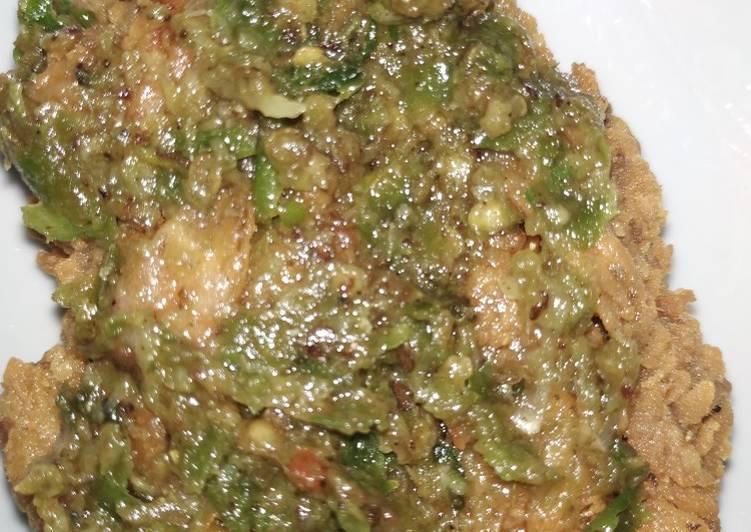 Ayam geprek sambal bawang ala bensu