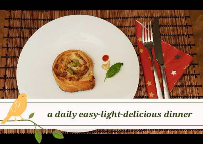 Recipe of Quick A daily easy-light-delicious dinner/brunch (savoury danish pastries)