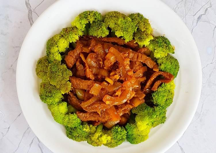 Brokoli Tumis Daging Sapi