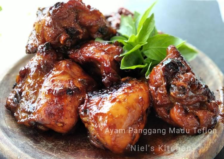 Resep Ayam Panggang Madu Teflon Yang Mudah Bikin Ngiler