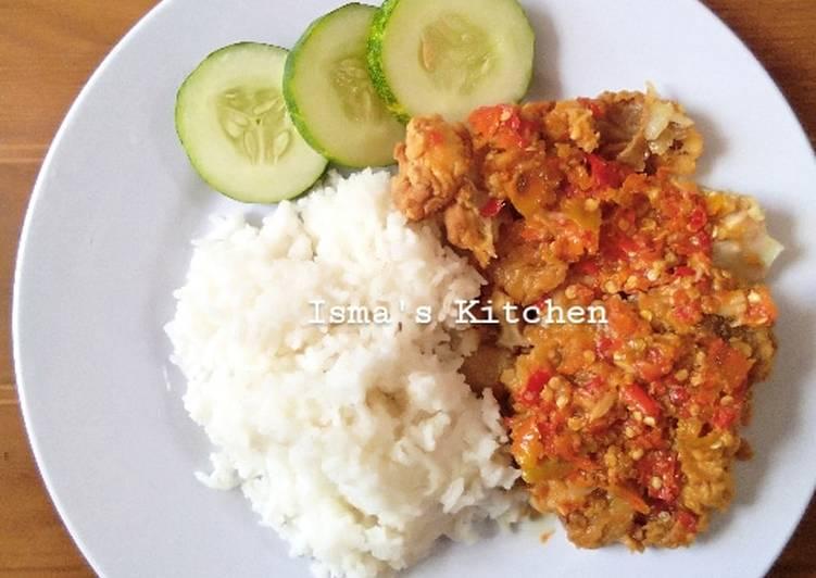 Ayam geprek pedas ala bensu #week13