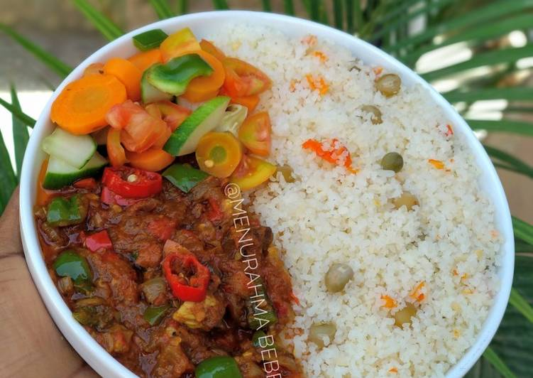 Steps to Make Award-winning Burabiscon shinkafa (rice couscous)