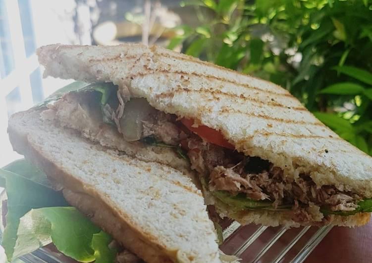 Resep Sandwich tuna (diet rendah kalori)