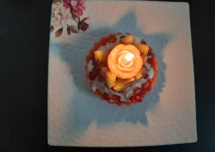 Recipe of Quick Fruit cream in rice flour tart cake