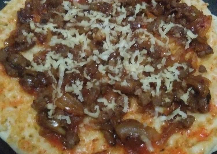 Pizza Saus Sapi Asam Manis