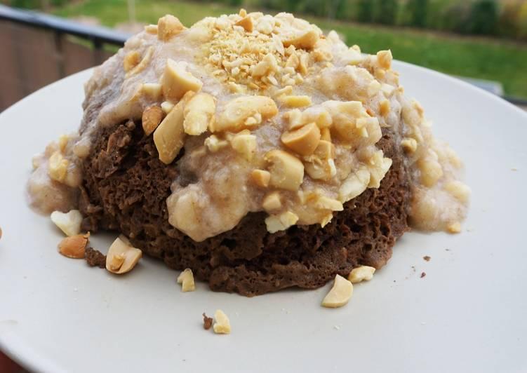Bowlcake au cacao, sans lactose ni gluten