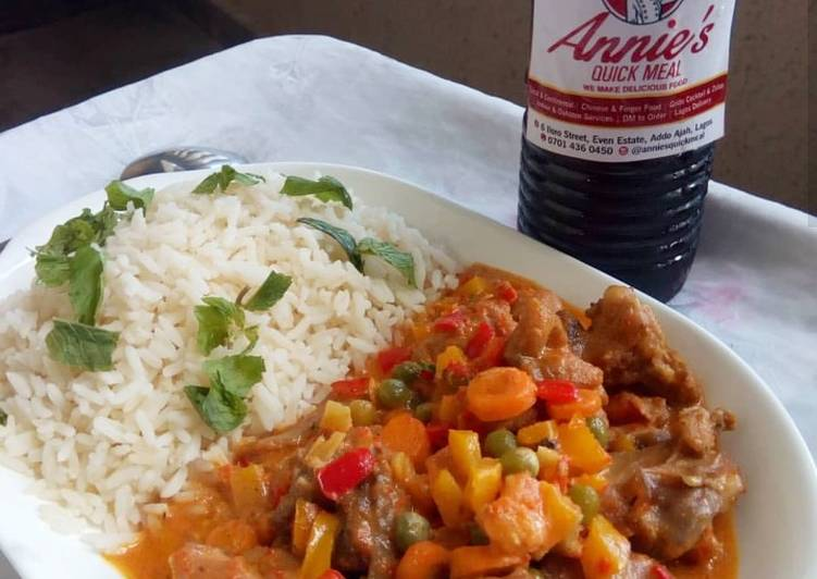 Simple Way to Prepare Any-night-of-the-week Turkey Thai curry sauce with Chilled Zobo