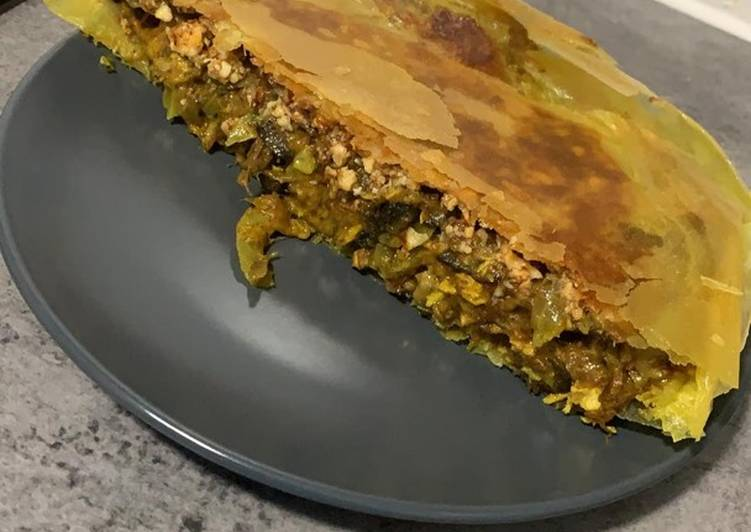 recette Pastilla poulet courgettes et cumin délicieux