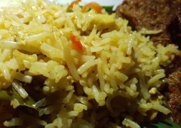 Vegetable fried basmati rice