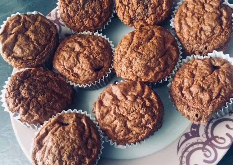 Comment Préparer Les Muffins au chocolat moelleux…😊