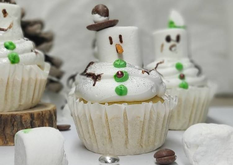🧁Snowman Cupcake ☃️