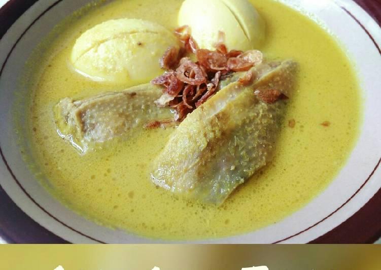 Opor ayam telor Padang
