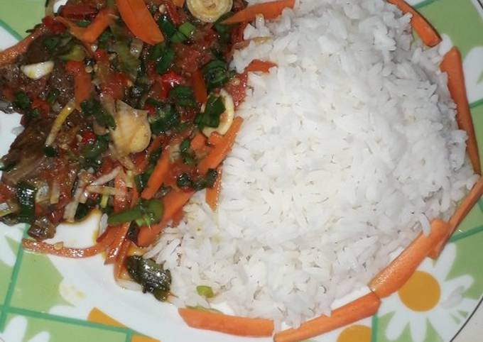 White Rice and French sauce