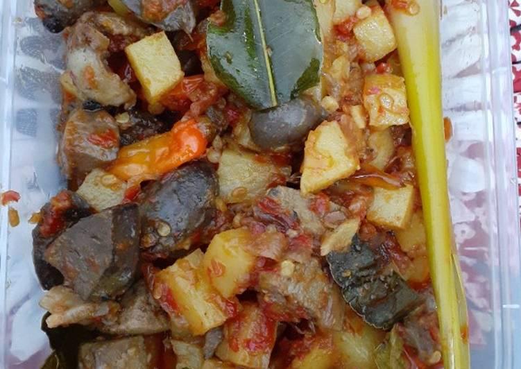 Resep Sambel goreng ati ampela kentang Anti Gagal
