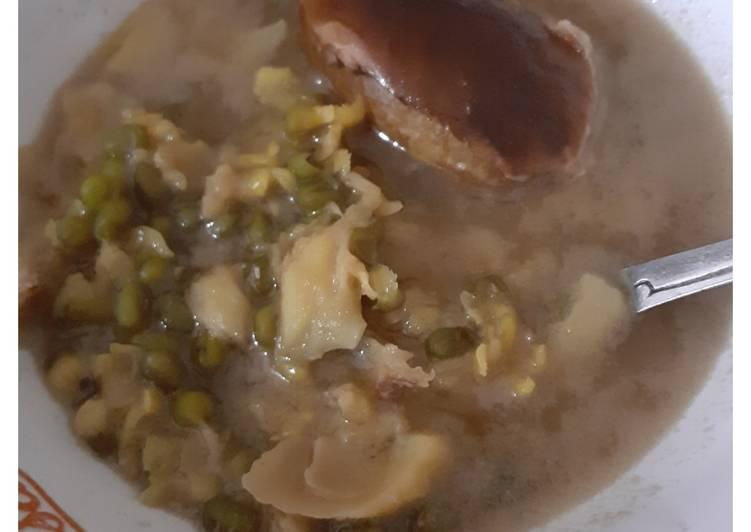 Bubur kacang ijo duren