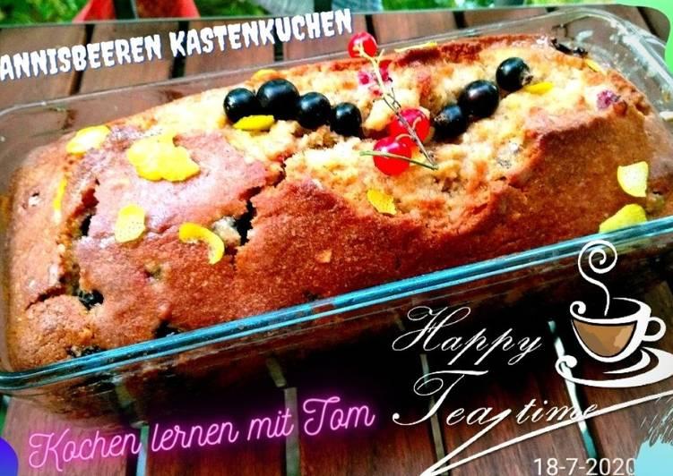 Recipe: Delicious Kasten-Kuchen JOHANNISBEEREN-KROKANT, einfachste Zubereitung, super lecker