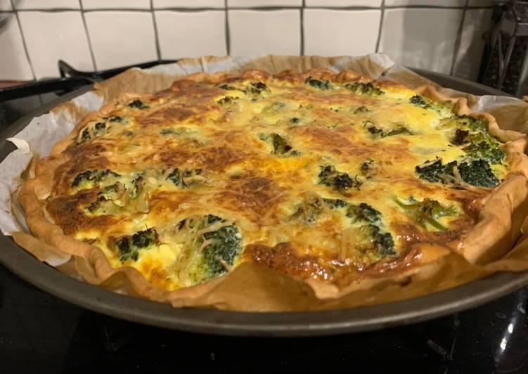 Tarte brocolis et fromage de brebis