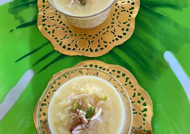 Recipe of Award-winning Rice pudding/Kheer in instant pot