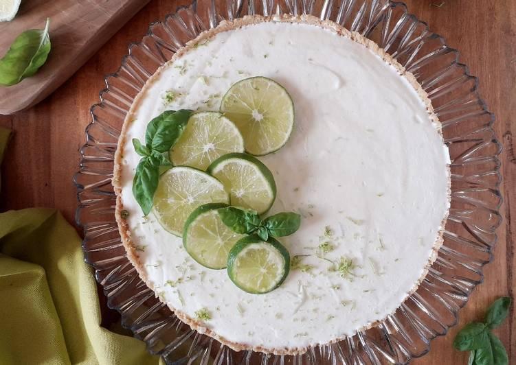 Cheesecake lime e basilico, senza glutine