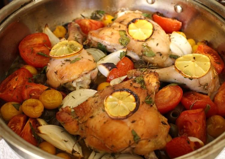 Super Easy Provençal Inspired Roast Chicken