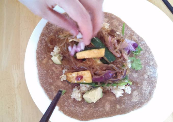 Spelt sweet potato taco shell