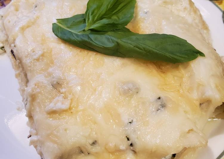How to Make Homemade Brad's crab florentine manicotti w/ parmesan, basil, caper sauce