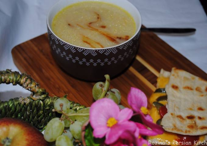 Parsnip soup with potatoes