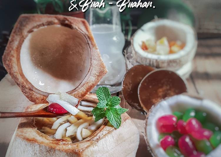 Air kelapa gula melaka buah kabung # minuman #maraton raya - resepipouler.com