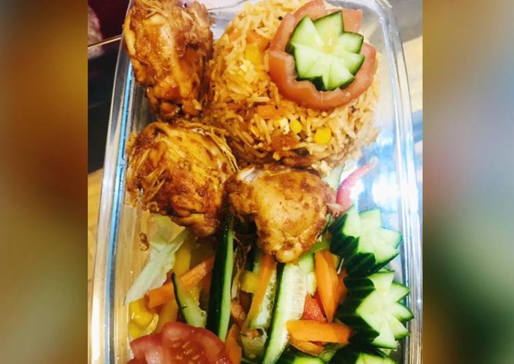 Recipe of Favorite Chicken tikka with veg fried rice